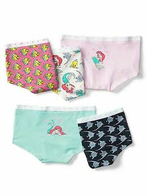 New Gap Kids 5 Pack Panties Bikinis Underwear 6 7 8 12 16 NWT Little Mermaid Ari