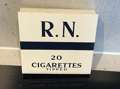 Vintage RN Tipped ( Royal Navy ) - Empty 20 Cigarette Packet