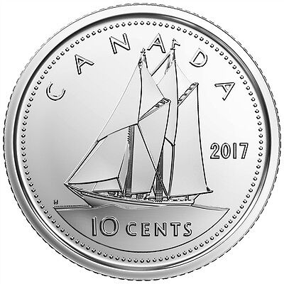 2017 Canada 10 Cents Brilliant Uncirculated Dime Coin
