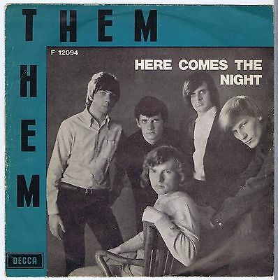 Them (3) Here Comes The Night 7″, Single Decca – F.12094 Italy 1965 VG/G+