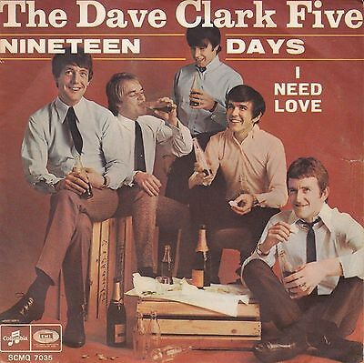 The Dave Clark Five Nineteen Days 7″, Single Columbia – SCMQ 7035 Italy 1967 ...