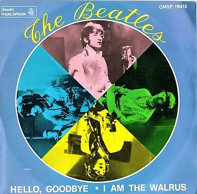The Beatles Hello, Goodbye / I Am The Walrus 7″ Parlophon – QMSP16415 Italy 1...