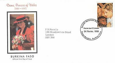 (02380) Burkina Faso FDC Princess Diana Death 24 February 1998