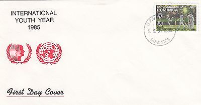 (02364) CLEARANCE Dominica FDC 1985 Youth Year Cricket 1985