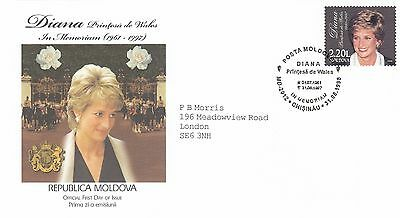 (02329) Moldova FDC Princess Diana Death 31 August 1998