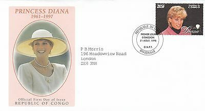 (02328) Congo FDC Princess Diana Death 31 August 1998