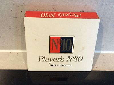 Vintage Players No10 Filter Virginia - Empty 20 Cigarette Packet