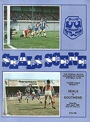 1979/80 Chester v Southend United, Division 3, PERFECT CONDITION