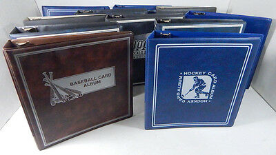 Lot of (11) Used Sports Card Collectors Albums