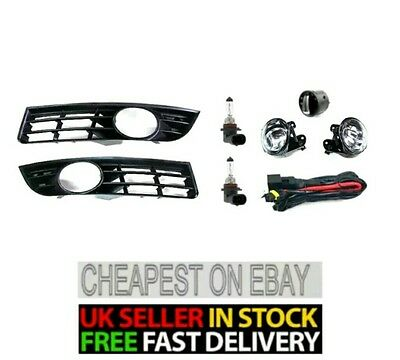 Fog Light,grill Wiring Harness Loom And Switch Full Set For Vw Passat B6 2006-09