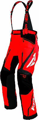 FXR Mens Red/Black Mission X Insulated Snowmobile Pants Snow Snocross