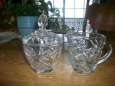 Vintage Early American Prescut Star Of David Cream And Sugar Bowls