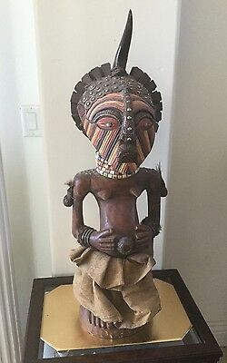 Vintage African Congo Songye Nkisi Community Male/Female Power Figure