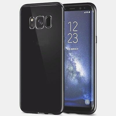 For New Samsung Galaxy S8 Plus TPU Gel Jelly Skin Case Cover Clear Ultra thin