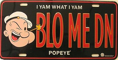 Blo Me DN Blow Me Down Popeye the Sailor Man Novelty License Plate