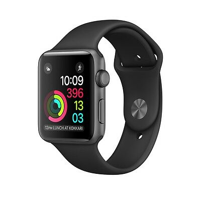 Apple Watch Sport 42mm Space Gray Aluminum Case w/ Black Sport Band MJ3T2LL/A