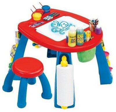 Kids Crayola activity Creativity Play Station table Desk & Chair Set chalkboard