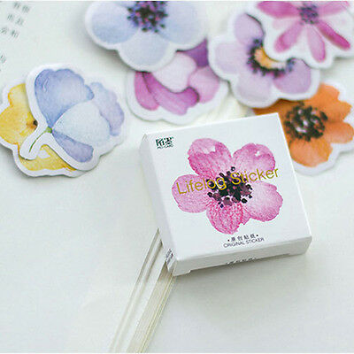 45Pcs/pack Colorful Flowers Stickers Scrapbooking DIY Diary Album Stickers AQW