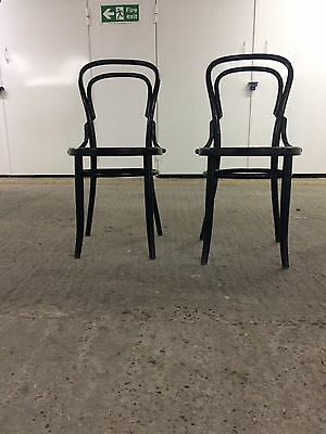 Vintage Mid Century Bentwood Cafe Dining Chair - Black - Original Stamp Visible