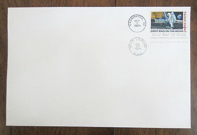FIRST MAN ON THE MOON First Day of Issue Stamp of Envelope 1969