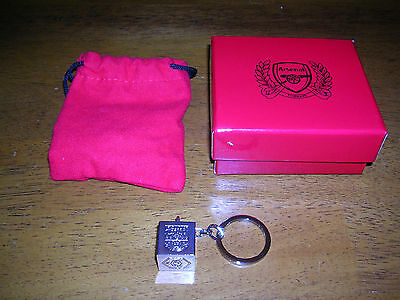 Arsenal FC Official Metal Cube Crest Keyring with box and bag