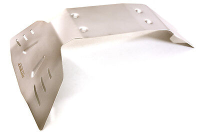 C27480GREY Stainless Steel Center Skid Plate for Traxxas 1//10 E-Maxx Coated