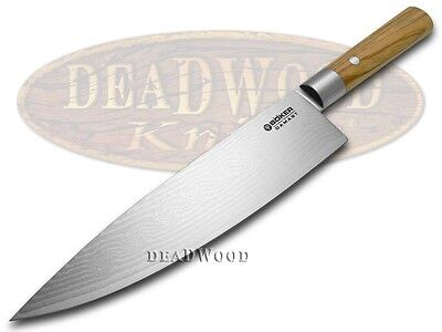 BOKER TREE BRAND Premium Kitchen Cutlery Damascus Olive Wood Chef's Knife Knives
