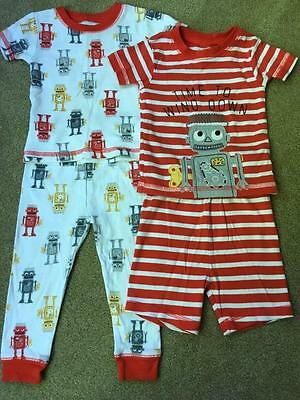 Just One You by Carter's Lot of 2 pair Baby Boy Pajamas Robots Size 18 M