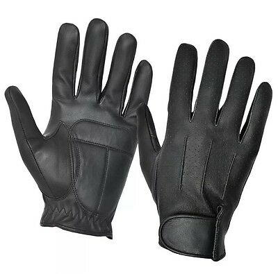 Chauffeur Real  Leather Padded Palm Driving Gloves Men