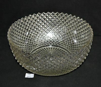"""ThriftCHI ~ Westmoreland English Hobnail Clear Glass Salad Bowl 9"""""""