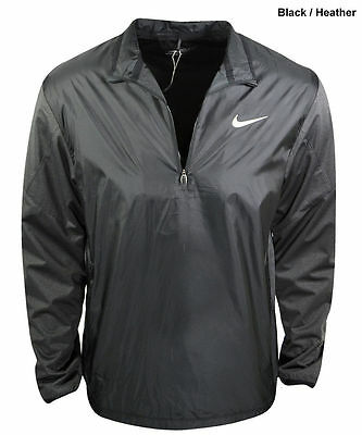 New Nike Shield 2016 (Mens- Large) BLACK 1/2 Zip Golf WARMUP Pullover