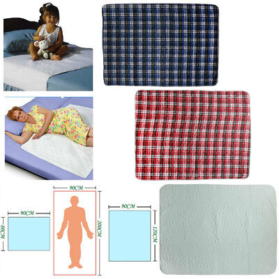 Reusable Absorbent Washable Incontinence Bed Sheet Pad Mattress Protection