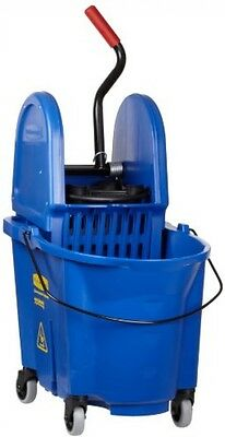 Rubbermaid Commercial WaveBrake Mop Bucket With Down Press Wringer Combo, 35 ,