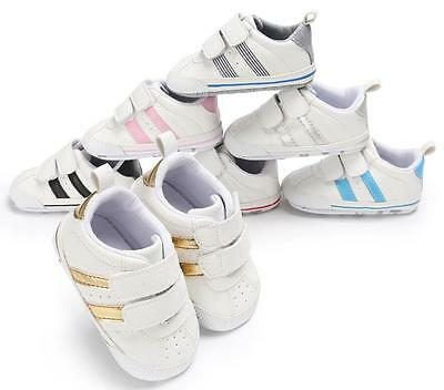 Newborn Baby Pram Shoes Boy Girl Sneakers Toddler PreWalker First Trainers 0-18M