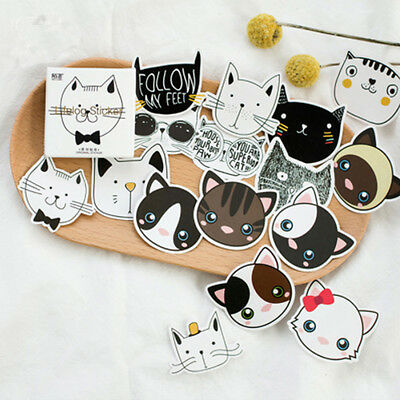 45 pcs/lot cute Cat Head mini paper sticker decoration DIY diary label sticker