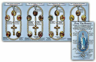 image about How to Pray the Rosary Printable Booklet identify HOW Toward PRAY the Rosary Illustrated Pamphlet W/ Luminous Mysteries Pack of 25