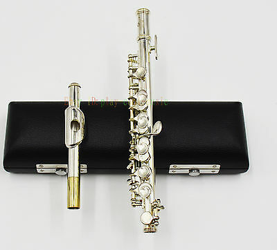 JINBAO silver Plate C tone Piccolo with leather case