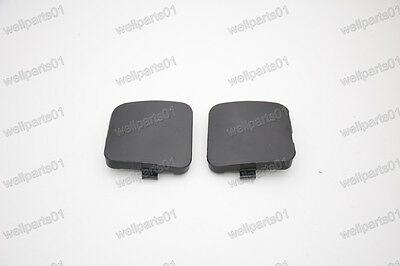 1Pair Front Bumper Tow Towing Eye Hook Cover Caps For Toyota RAV4 2009-2012