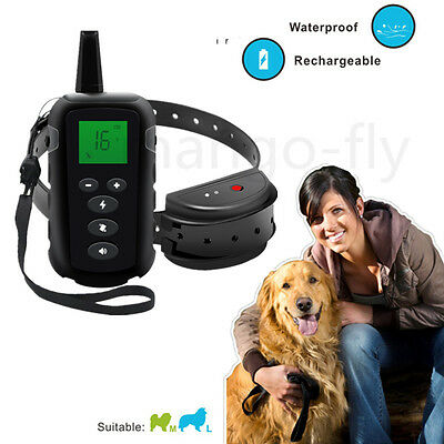 Waterproof Rechargeable Remote LCD 500M Electric Pet Dog Training Shock Collar