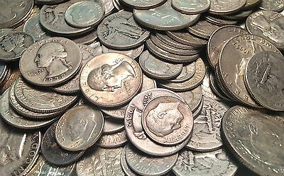 $10 Face Value 90% Silver. All US Dimes. Quarters & Halves. NOT Searched 0 Junk
