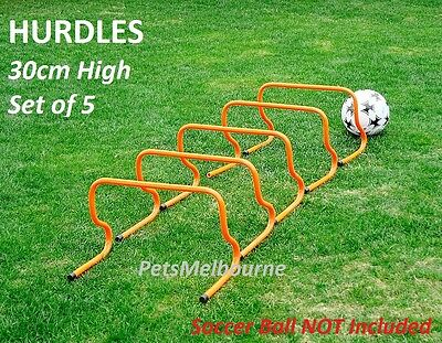 5x Hurdle 30cm Agility Speed Training Soccer Football  Sport Fitness Must Have
