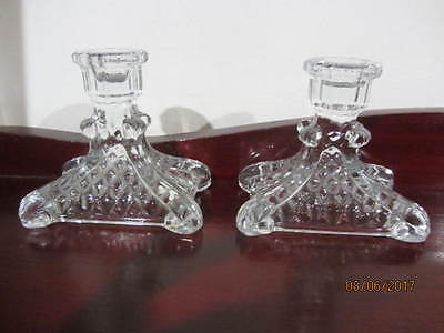 2 X  Vintage ''crystal'' - Candle Holders
