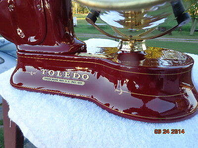 Custom restored Antique cast iron Toledo candy scales