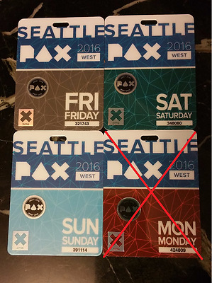 PAX WEST BADGES (PRIME) 2017 - 3 DAYS - FRIDAY, SATURDAY and SUNDAY