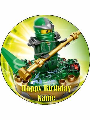 LEGO NINJAGO Edible Wafer Paper Birthday Cake Decoration & 12 Cupcake Toppers #1