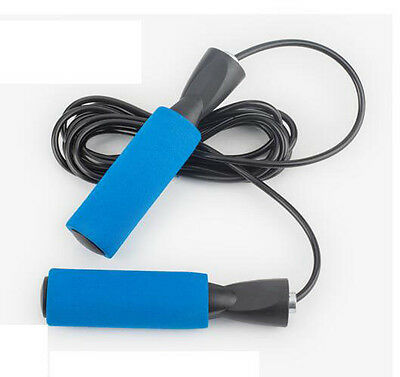 Home Gym Training Skipping Speed Rope Fitness Boxing  Jumping Adjustable Blue