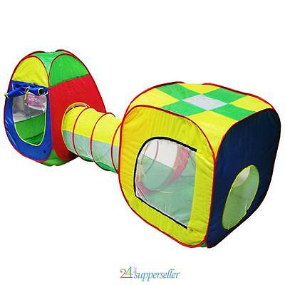 Kid Toddler Tunnel Pop Up Play Tent Cubby Playhouse Indoor Outdoor Adventure Toy