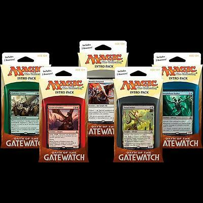 Magic the Gathering Oath of the Gatewatch Intro Packs Set of 5
