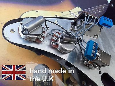 stratocaster strat custom solderless 7 way wiring harness kit