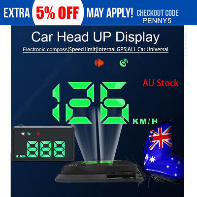 Truck Universal GPS HUD Digital Head Up Display Car Speed Warning Navigation LED